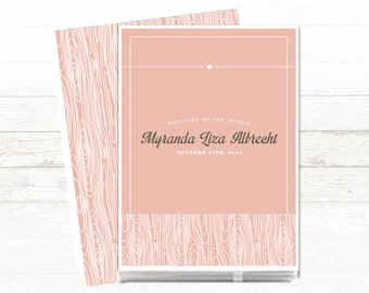 Personalized Baby Book for Baby Girl. A Modern Baby Memory Book for busy moms