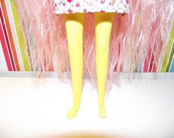 Yellow sheer with leggins tights for Pullip doll