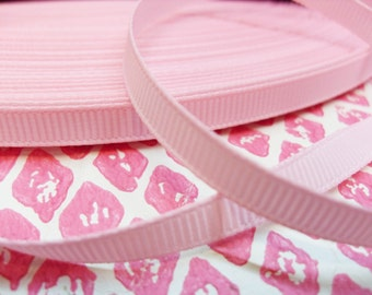 5 yards 5 metres of 6mm Pale Pink Grosgrain Ribbon