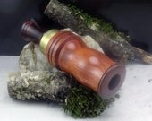Duck Call single Reed Rosewood with Brass Band - #D