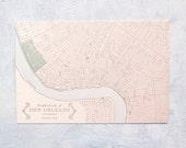 Letterpress Postcard - The Irish Channel, New Orleans