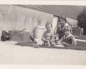 Woman and Children - Vintage Photograph, Found Photo, Vernacular  (CCC)