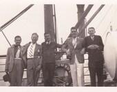 Vintage Photograph - Guys on Boat - Vintage Photo, Vernacular, Found Photos  (HHH)