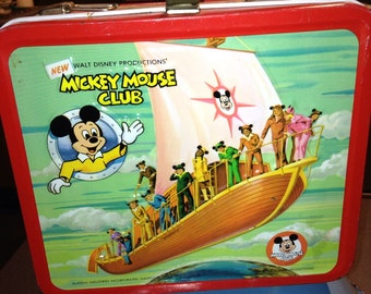 vintage metal lunch box LB lunchbox Disney new Mickey Mouse club