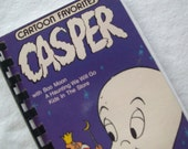 One Upcycled Notebook, Recycled Notebook, Casper, 4.00 X 7.25 VHS Video Box Cover Notebook, Many Uses