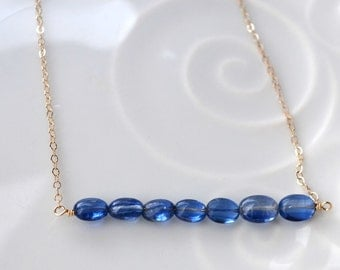Kyanite Necklace on Gold