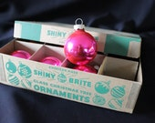 Hot Pink Shiny Bright Christmas Ornaments