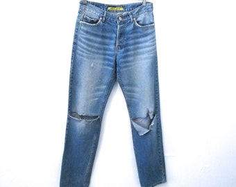 "90's Ripped Boyfriend Jeans - M - Waist 31"""