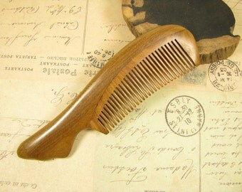 Small Normal Teeth Fragrant Verawood Hair Care Comb
