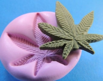Pot Leaf Mold Silicone Flexible Molds Fondant Clay Resin Moulds