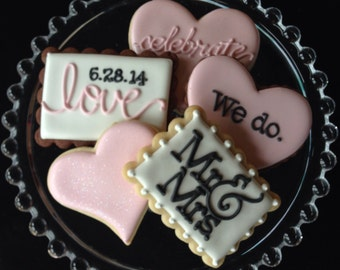 Customizable I Do Sugar Cookie Wedding Collection