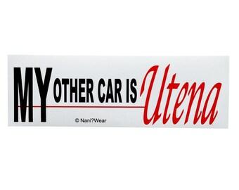 Revolutionary Girl Utena Anime Bumper Sticker (My Other Car is Utena)