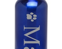 Personalized Stainless Steel Water Bottle Custom Engraved BPA Free Pet Paw-Eco-friendly Wedding Gift, Housewarming Gift