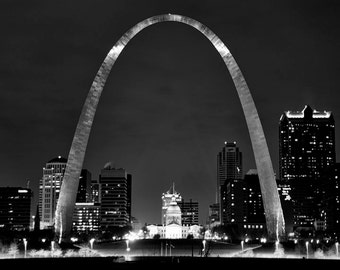 St Louis Skyline and Gateway Arch - Fine Art Photograph 5x7 8x10 11x14 16x20 24x30