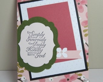 Leave the Rest to God Handmade Greeting Card