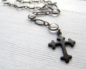 RESERVED Bohemian Cross Necklace for Anne