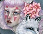 Kitsune japanese mythology fox pagan 8x10 fine art print