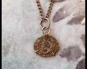 Authentic Ancient Roman Coin Bronze Necklace 3.5.2