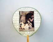 Vintage Advertising Fans, 1940s Hand Held Advertising Fans, Vintage Funeral Home/Church Fans