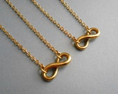 Infinity Necklace In Gold Finish