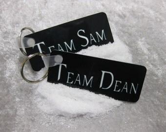 SET - Team Sam & Team Dean Supernatural TV series keychains
