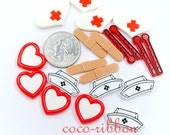 10/20/50pcs Nurse Kit Set Medical Care DIY Set Flatback Resin Cabochons - 20mm~28mm
