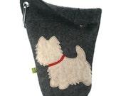 Dog Poop Bag Holder Small Leash Bag Cairn Terrier