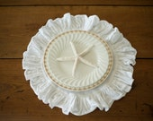 Round Ruffled Linen Placemats