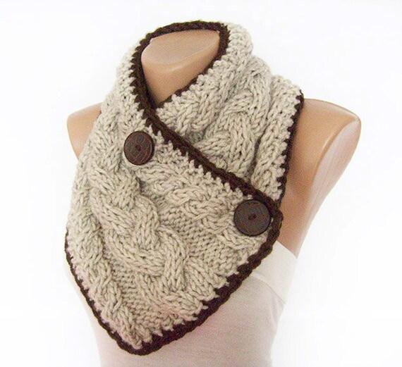 chunky knit schal schal knopf hals w rmer kabel von aninahandmade. Black Bedroom Furniture Sets. Home Design Ideas