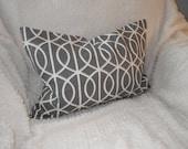Dwell Studio Bella Porte Charcoal, 14x22 Lumbar Pillow Cover, Ready to Ship, by Sew Custom Designs