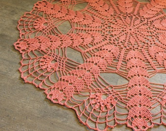 Extra Large Christmas doily, Gift, Crochet doily, lace doilies crocheted doilies centre piece hand made table runner napkin Photography prop