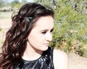 Turquoise Gemstone Hair Pins