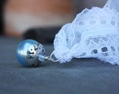 Something Blue Sterling Silver Blue Pearl Wedding Bouquet Bauble