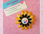 NFL Pittsburg Steelers Football Flower Clip