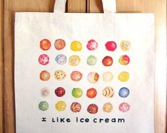I Like Ice Cream Tote Bag