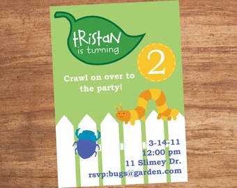 Bug Insect Party Invitation