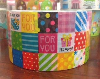 Deco Tape adhesive Stickers - Colorful Patchwork DTB165
