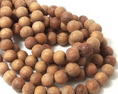 Unfinished Bayong Wood Beads, 10mm, Round, Smooth, Natural, Round, Full strand, 40pcs - ID 1644