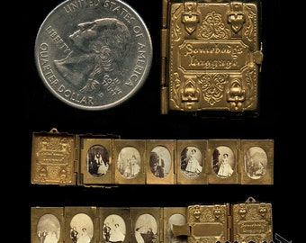 Museum Quality & Very Rare MINIATURE 1863 Photo Album / General Tom Thumb Wedding Souvenir!
