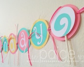 Lollipop Party Birthday Banner - sweet shoppe lollipop collection
