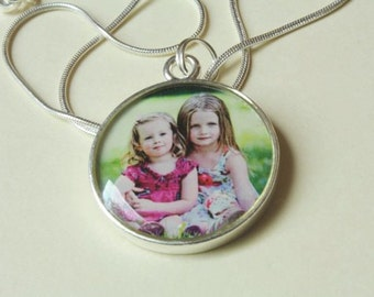 1 inch circle custom photo jewelry necklace