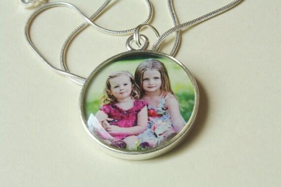 1 inch circle custom photo jewelry necklace