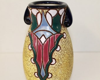 Amphora Vase made in Czechoslavakia