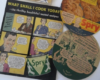 Vintage Advertisement, Spry ad, Pet Milk ad, Kitchen advertisement, vintage kitchen, vintage cookbook