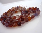 Pretty ethiopian flourite matte finish nugget beads 8-10mm 1/2 strand