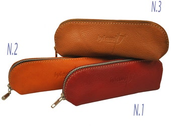 Leather case for sun glasses or beauty stuff ,named Mojos MADE TO ORDER