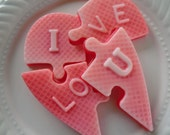 stocking stuffer - Heart Puzzle Soap - hostess gift, gifts for her, stocking stuffer for teen, stocking for kids