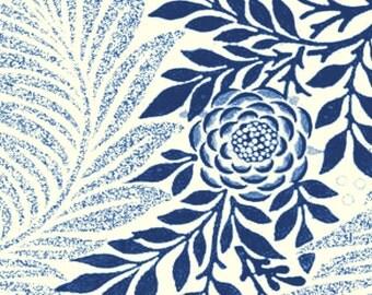 """G622 Rolling Mill (William Morris -Larkspur) Rollerprint pattern 4"""" x 5"""" Multi-texture"""