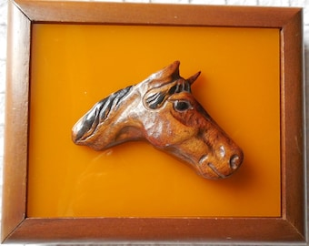 Double Deck of Horse Playing Cards in Lucite & Wood Box    HCP35