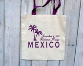 100 Custom Wedding Canvas Totes with Colored Handles - Eco-Friendly Natural Cotton Canvas